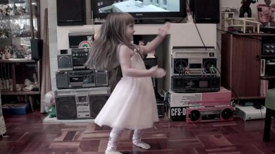 5FM Without 5 TVC screengrab little girl robot dancing
