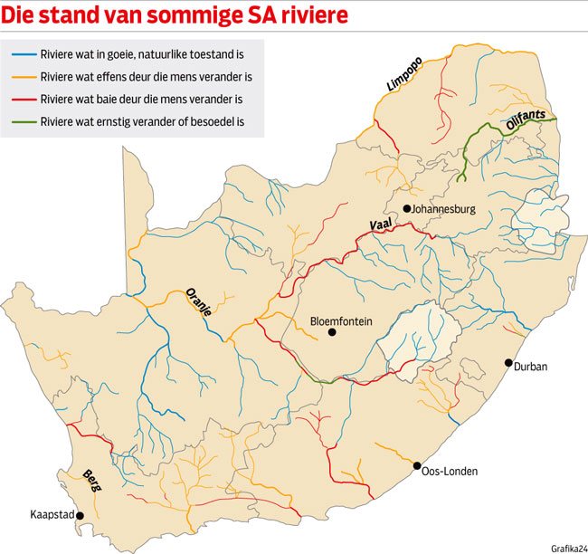 State of some South African rivers.