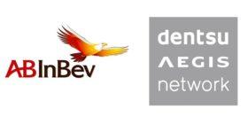 AB InBev logo and Dentsu Aegis Network logo