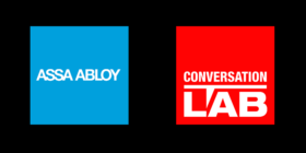 ASSA ABLOY logo and Conversation LAB logo