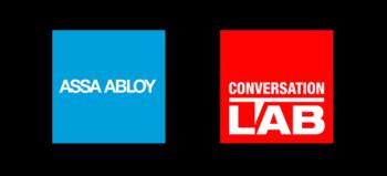 ASSA ABLOY logo and Conversation LAB logo