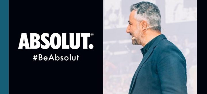 Absolut logo and Charl Bassil