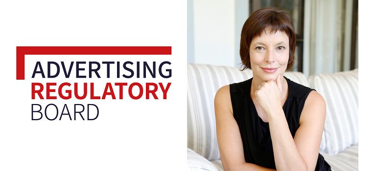 Advertising Regulatory Board logo and Gail Schimmel