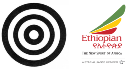 Africa Communications Media Group logo and Ethiopian Airlines logo