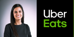 Ailyssa Pretorius and Uber Eats logo