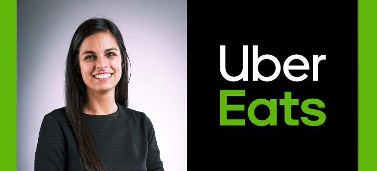 Ailyssa Pretorius and Uber Eats logo