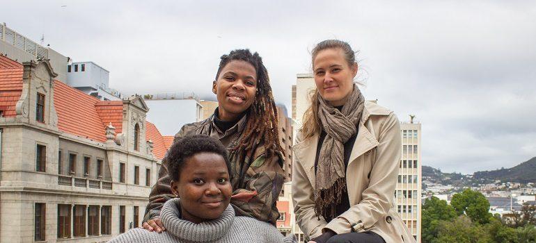 Akona Golimpi, Lydia Oberholzer and Tafadzwa Muzwa