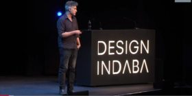 Alejandro Aravena presenting at Design Indaba 2018 - YouTube screengrab