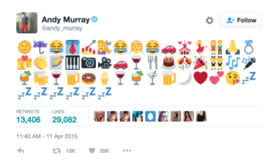 Andy Murrary's wedding tweet