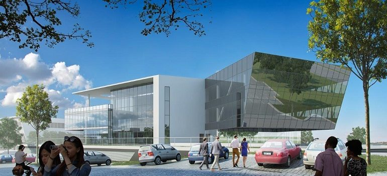 Architectural rendering of the new Accenture space in Waterfall