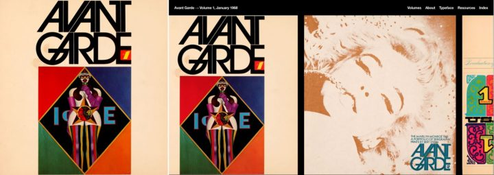 Avant Garde, print and online archive, issue 1, January 1968