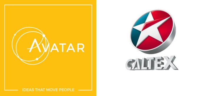 Avatar logo and Caltex logo