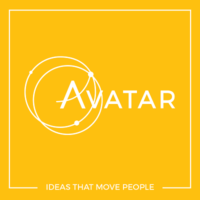 Avatar logo with payoff line