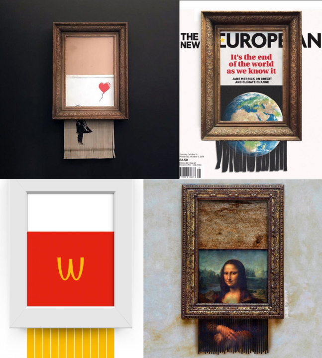 Banksy's Girl with Balloon, The New European, McDonald's, The Louvre