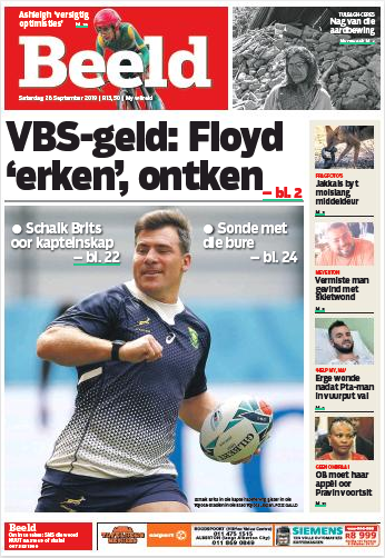 Beeld Saturday, 28 September 2019