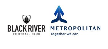 Black River FC logo and Metropolitan logo