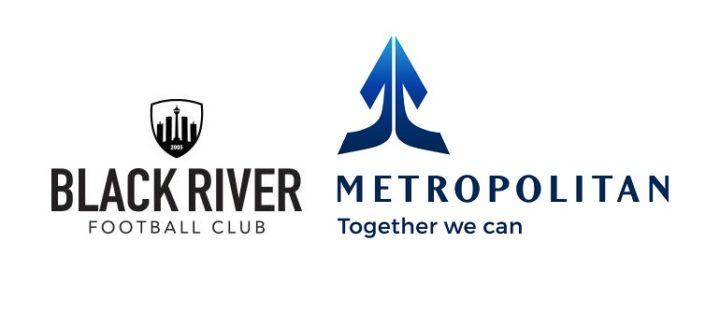 Black River FC logo and Metropolitan logo