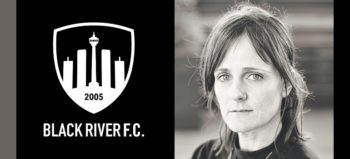 Black River FC logo and Roanna Williams