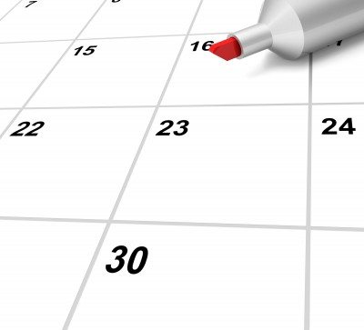 Blank Calendar Shows Plan Appointment Schedule or Event by Stuart Miles courtesy of FreeDigitalPhotos.net