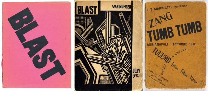 Blast 1 July 1915 and 2 July 1915, and Filippo Marinetti Zang Tumb Tumb, October 1912