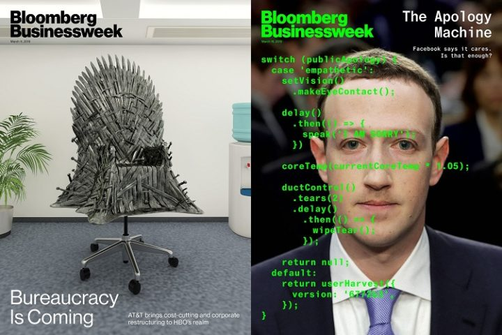 Bloomberg Businessweek, 11 & 18 March 2019 - Game of Thrones and Mark Zuckerberg