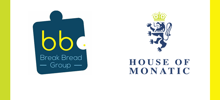 Break Bread Group logo and House of Monatic logo