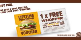 Burger King's Phillip de Wet lifetime Whopper voucher