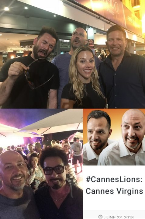 Cannes Virgins day five collage