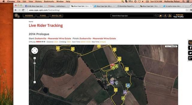 2014 Cape Epic/Tracker