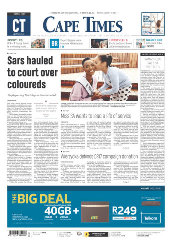 Cape Times, Monday 12 August 2019