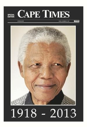 Cape Times front page 6 December 2013 — Madiba