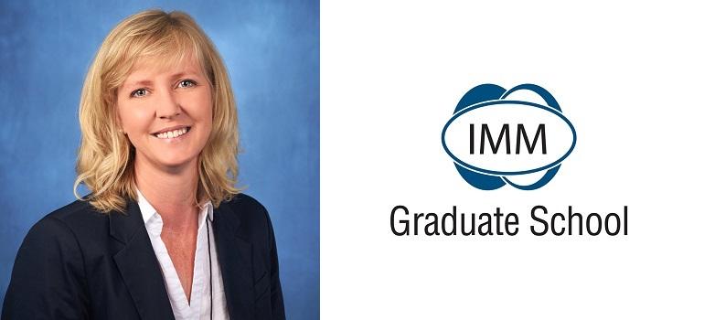 Charmaine du Plessis and IMM Graduate School logo