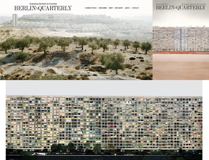 Collage Berlin Quarterly website September 2017, Berlin Quarterly 6, Andreas Gursky Paris Montparnasse 1993