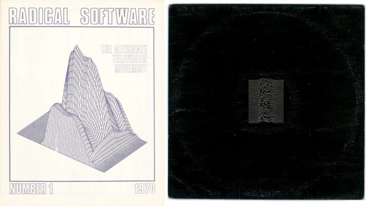 Collage - Radical Software, no 1 1970 and Unknown Pleasures by Joy Division