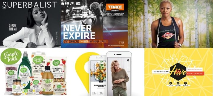 Collage - Superbalist, Trace Mobile, Albany Bread, Checkers Simple Truth, Woolworths app, J&B Hive