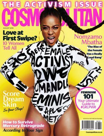 Cosmopolitan, Activism Issue, August 2018 - Nomzamo Mbatha