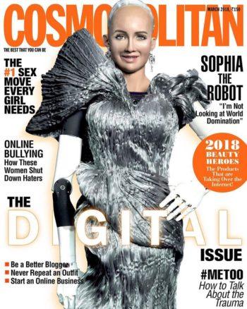 Cosmopolitan India, March 2018 - Sophia the Robot
