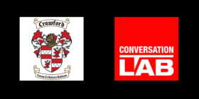 Crawford Schools logo and Conversation LAB logo