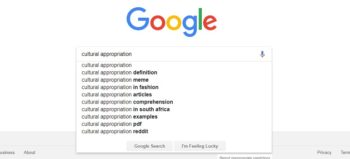 Cultural appropriation screengrab via Google