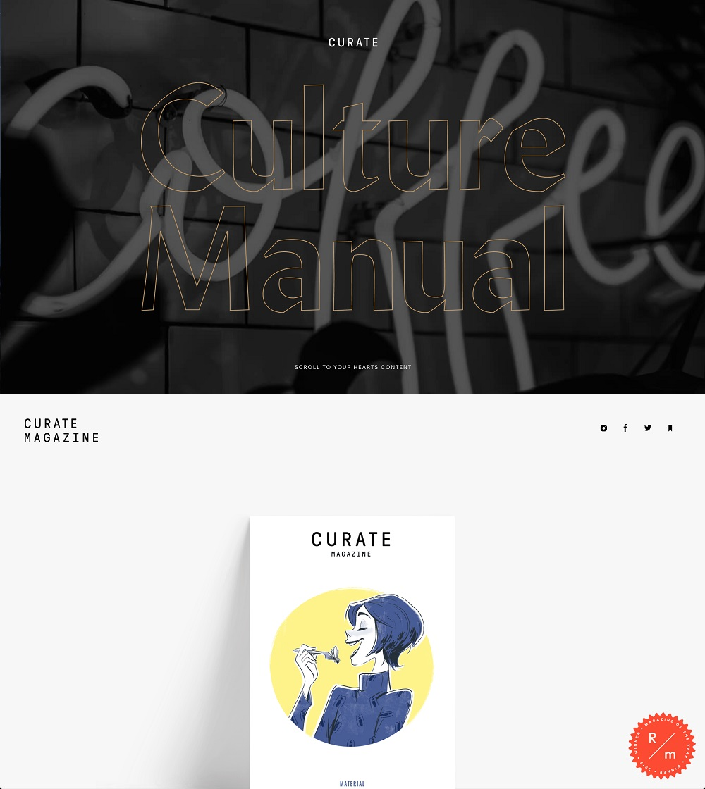 Curate Culture Manual 2018 and Curate Magazine, Issue 6 2018