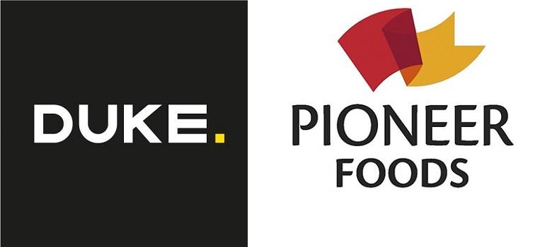DUKE logo and Pioneer Foods logo