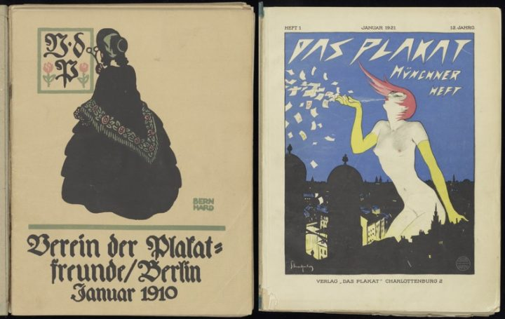 Das Plakat, vol 1 no 1, 1910 and vol 1 no 1, 1921