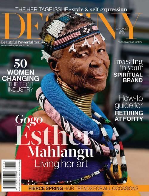 Destiny, Heritage Issue, August-September 2017 - Esther Mahlangu