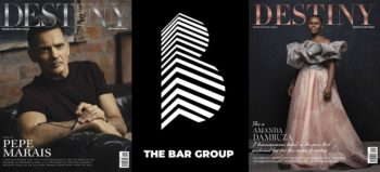 Destiny Man cover, Nov/Dec 2019, The Bar Group logo and Destiny cover,Nov/Dec 2019
