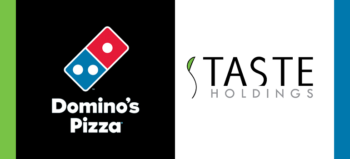 Domino's Pizza logo and Taste Holdings logo