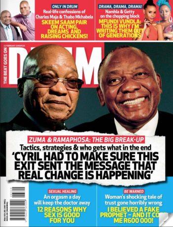 Drum, 22 February 2018 - Jacob Zuma and Cyril Ramaphosa