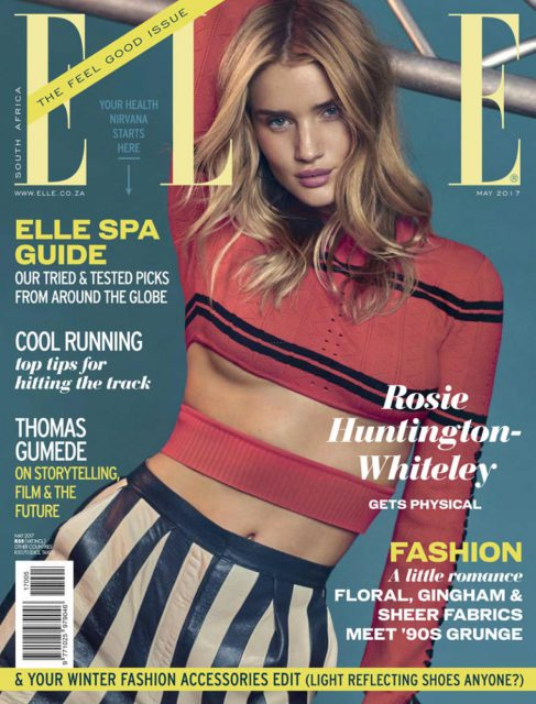 ELLE South Africa, May 2017 - Rosie Huntington-Whiteley
