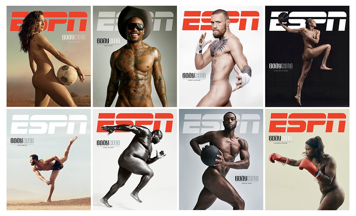 ESPN Body Issue 2016 covers