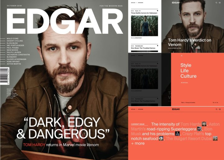 Edgar, issue 69, online and print, October 2018 - Tom Hardy