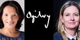 Elouise Kelly, Ogilvy logo and Tracey Edwards